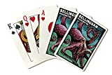 Bellingham, Washington - Octopus - Scratchboard (Playing Card Deck - 52 Card Poker Size with Jokers)