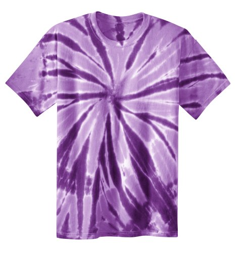 (Koloa Surf Co. Youth Colorful Tie-Dye T-Shirt in Youth Sizes XS-XL Purple)