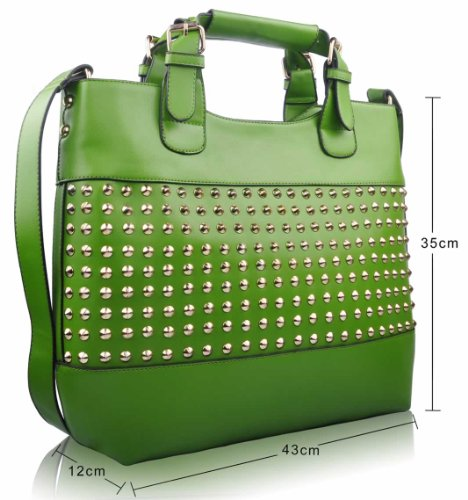 Handbags New Leather Womens Large Designer Shoulder Sale Bags 4 Design Ladies Faux Green Tote RUqdUwC