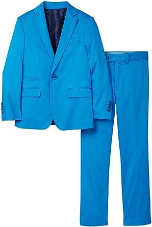 Isaac Mizrahi Boys 2-20 Slim Fit 2-Piece Cotton Stretch Suit Colors