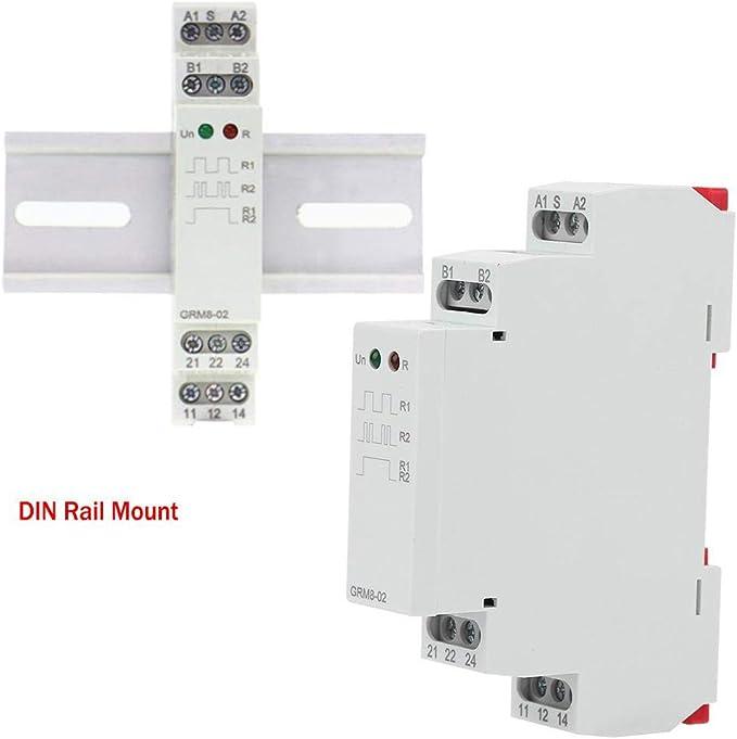 DC12-240V Impulsrelais,GRM8-01 ElektronischesSto/ßrelais-Speicherrelais Mehrpunktsteuerung Impulsrelais elektronisches Impulsrelais-Sperrrelais AC