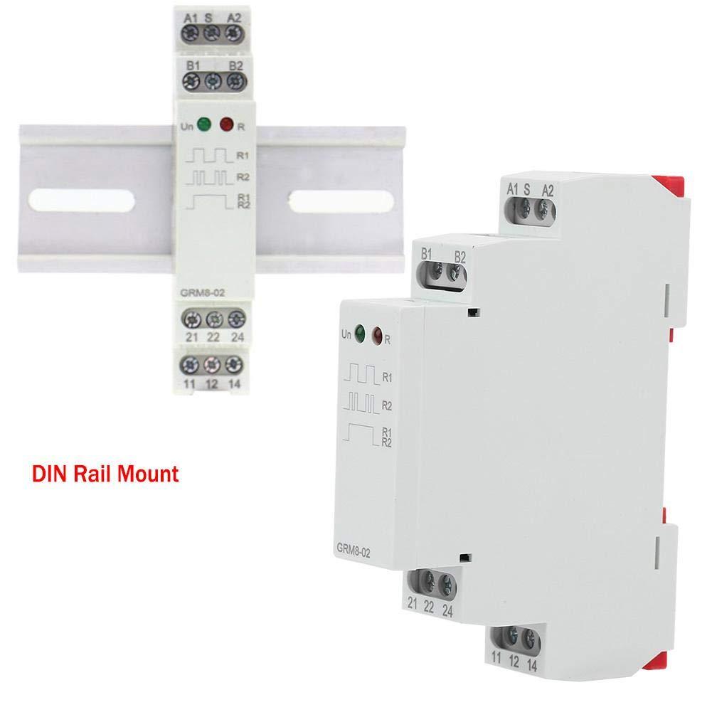 Elektronisches Impulsrelais 230V GRM8-02 DIN-Schienen-Wechselstrom-Speicherrelais Impuls