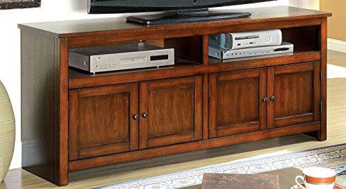Furniture of America Merina Transitional TV Console, 60-Inch, Antique Oak