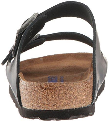 Birkenstock Unisex Arizona Metallic Anthracite Leather Sandals - 39 M EU / 8-8.5 B(M) US by Birkenstock (Image #2)