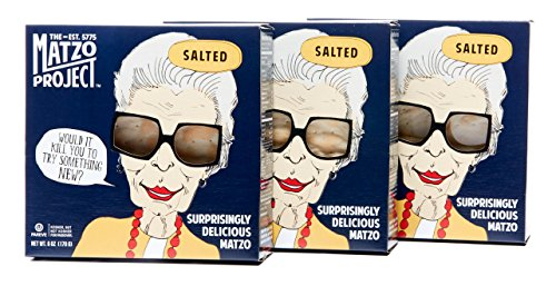 - The Matzo Project Salted Matzo, Kosher, Dairy-Free, Vegan, Nut-Free, No Added Sugar, No Trans Fats, No Artificial Flavors or Colors, 6oz, Pack of 3