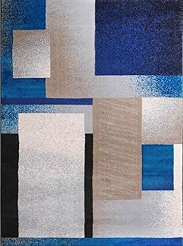 Home Dynamix Tremont Area Rug | Modern Living Room Accent Rug | Contemporary Geometric Pattern | Cozy Soft Texture | Blue, Silver, Beige 21
