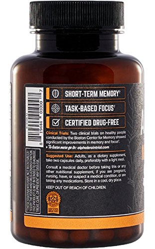 Onnit BRAIN® | Flagship Focus, and Mental Clarity Clinically Optimal Brainwave Function and Processing Speed