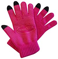 Boss Tech Products Knit Non-Skid Touchscreen Gloves for Cell Phones, Smart Phones, Tablets Kiosks and ATM Machines