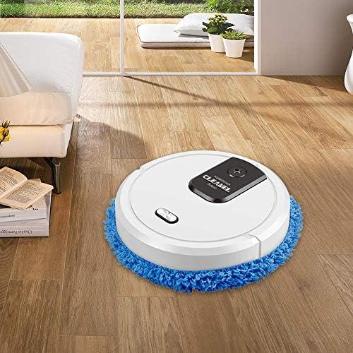FISHOP Aspirateur Robot, balayeuse, Fonction d'essuyage, Sweeping Moping Robot Aspirateur pour la Maison Auto Poussière Stériliser Cyclone Aspiration Smart,Blanc - Home Robots
