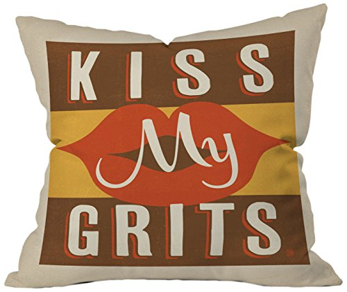 DENY Designs Anderson Design Group Kiss My Grits Throw Pillow, 26 x 26