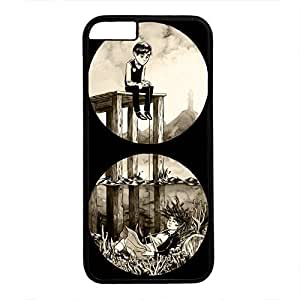iPhone 6 Plus Case, iCustomonline Month2Come Cover Illustration Case for iPhone 6 Plus 5.5 inch PC Material Black