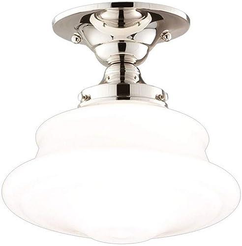 Hudson Valley Lighting 3416F-PN Petersburg Collection – One Light Semi Flush Mount, Polished Nickel
