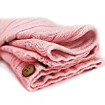 XMWEALTHY-Newborn-Baby-Wrap-Swaddle-Blanket-Knit-Sleeping-Bag-Sleep-Sack-Stroller-Wrap-for-BabyLight-Pink-0-6-Month