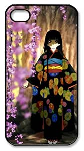 icasepersonalized Personalized Protective Case for iPhone 4/4S - Anime Girl under tree