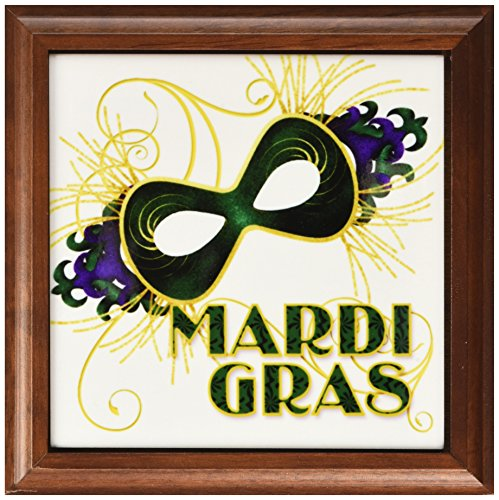 3dRose ft_173234_1 Mardi Gras Green Gold & Purple Mask fo...
