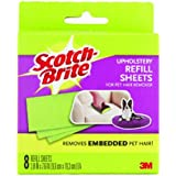 6 Pack Of 3m Scotch Fur Fighter 849rf-8 Hair Remover Refill, 8-sheet (48-sheet In Total)
