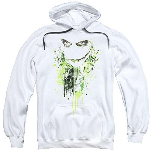 Trevco Men's Batman Dark Knight Hoodie Sweatshirt, White Large ()
