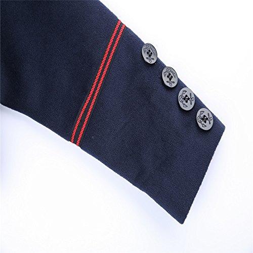 del para frío marino lana fila punta azul largo de femenina Color abrigo invierno la El de doble 8HgTTq