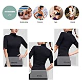Tmalltide Pieryoga Women High Collar Yoga Tops Active Running Shirt with Middle Sleeve