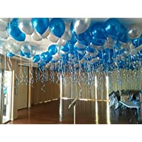 GrandShop 50411 Metallic HD Toy Balloons - Frozen Theme, Blue/Silver (Pack of 50)