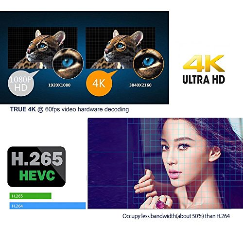 BOMIX MXPRO 1/8G Android 6.0 Smart Tv Box Quad Core with 2.4G Wi-Fi 100M Ethernet Lan 4K Hdmi 3D Ott Media Player