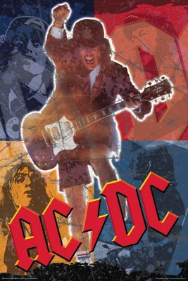 AC/DC Poster Angus Young - Acdc Collage Rare Hot