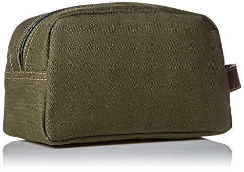 51%2BeaDFH%2BkL - Timberland Men's Toiletry Bag Canvas Travel Kit Organizer, Olive, One Size