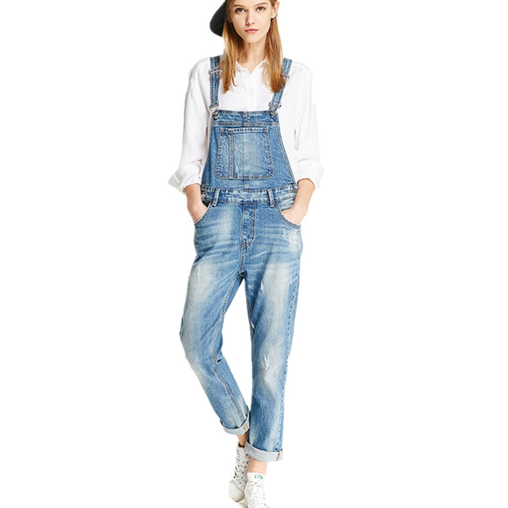 Women Clothing Blue Jeans Denim Overalls