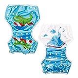 ALVABABY 2cs Swim Diapers Reuseable Adjustable One