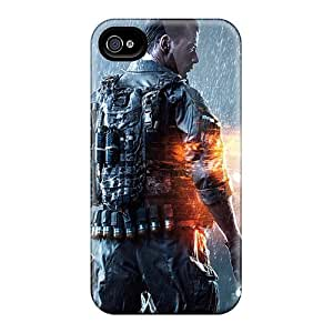 Cute Appearance Cover/tpu Nyr47rvng Battlefield 4 Game Case For Iphone 4/4s