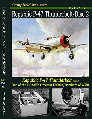 (P-47 Republic Thunderbolts D2 WW2 un-crate flying old Films USAF Air Force DVD)
