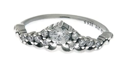 64fc44687 Amazon.com: PANDORA Fairytale Tiara Ring, Clear CZ 196226CZ-56 EU ...