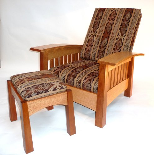 Footstool Plan - Build-Your-Own California West Bow Arm Chair & Footstool Plan - American Furniture Design