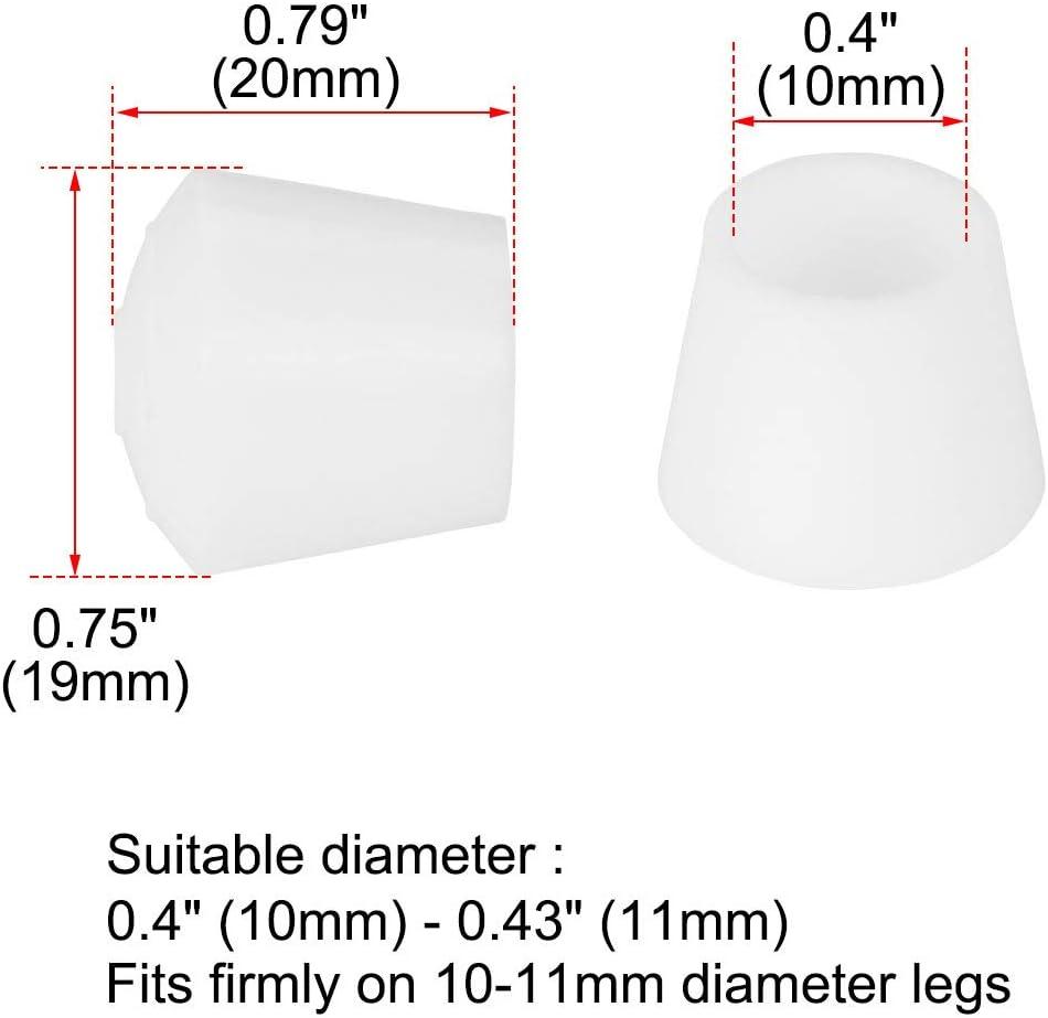 sourcing map 4Stk.Stuhlbeinkappen Filzgleiter Bein Kappe Spitze Deckel Gummi 32mm 1 1//4 Innendurchmesser f/ür M/öbelstuhl