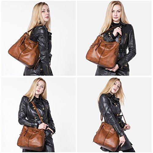 Dark Handtaschen Taschen Umhängetasche Mit Brown Damen Designer Hobo Taschen Quasten groß Lederimitat vwHvFqaxr