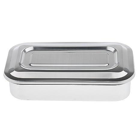 REFURBISHHOUSE Caja de Instrumentos Caja de Organizador de contenedor de Acero Inoxidable a la Caja de Almacenamiento con latas de Herramientas de ...