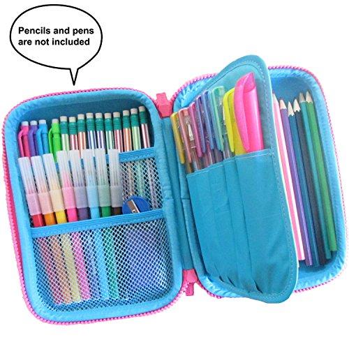 Pencil case for kids, The original brand Kidberry pen case for kids,pencil pouch, girls pencil case, Cute Unicorn 3D Unique design pencil box, comes with a matching Pom Pom key chain in a gift box Photo #3