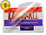LAM-IT-ALL Premium 5 Mil Business Card Hot Laminating Pouches 2-1/4 x 3-3/4 (Pack of 100) Clear
