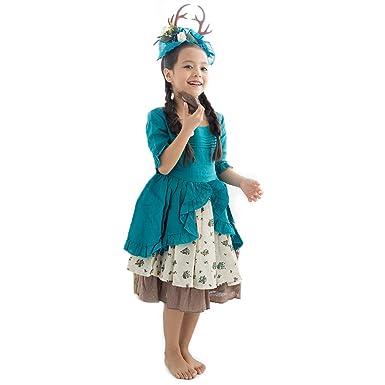 Wow Lovely Disfraz de Hada de Ciervo para niña, Azul, Blanco ...