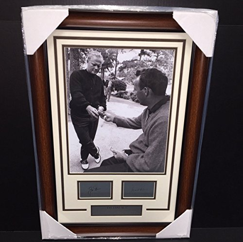THE LOST BET JACK NICKLAUS ARNOLD PALMER LASER ENGRAVED SIGNATURE 11X14 PHOTO - Photo Palmer Arnold Signed