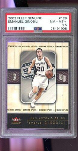 2002-03 Fleer Genuine #129 Manu Emanuel Ginobili 434/2002 ROOKIE NBA PSA 8.5 Graded Card