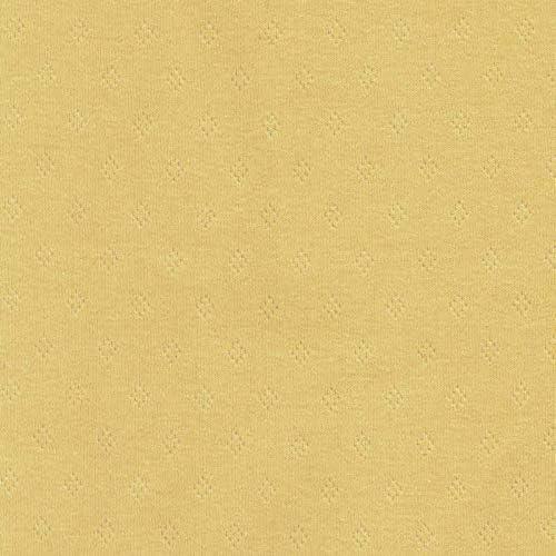 Higgs & Higgs - Pointelle Algodón Fino Jersey - Empañadas Amarillo - Tejido Confección Elástico - Metre: Amazon.es: Hogar