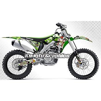 amazon com kungfu graphics chick custom decal kit for kawasaki rh amazon com 2014 Kawasaki KX250F Race Bike 2014 Kawasaki Dirt Bike