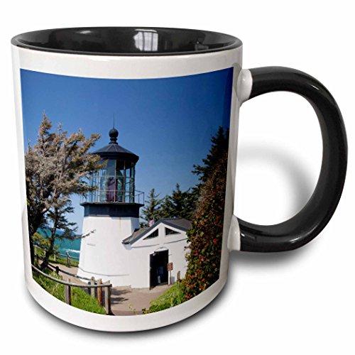 3dRose Danita Delimont - Lighthouses - Lookout, Cape Meares lighthouse, Oregon, USA - US38 JWI0444 - Jamie and Judy Wild - 15oz Two-Tone Black Mug (mug_145717_9)