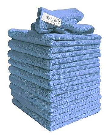 Exel 1 x Supercloth Medium Duty Microfibre Cloth ideal for Home, Car or Garden Pack of 10 Cloths - Green