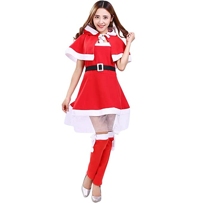 luversco santa christmas cosplay dress women santa claus christmas clothes costume party cosplay outfit fancy