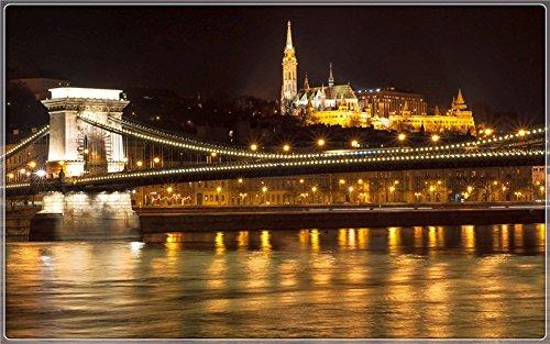 chain-bridge-budapest Postcard Post card