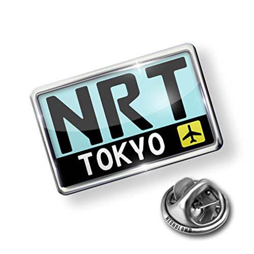 01 Japan Pin - Pin Airport code NRT / Tokyo country: Japan - Lapel Badge - NEONBLOND