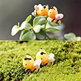 Floralby Fairy Garden Ornament, 6Pcs Miniature Bees Figurine Micro Landscape Bonsai DIY Dollhouse Decor For Sale