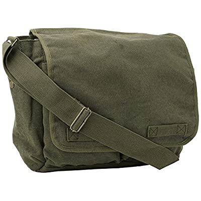 Classic Original Canvas Army Military Messenger Bag Olive by Army Universe  new 92478a3918d